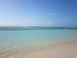 White beach in Guadeloupe