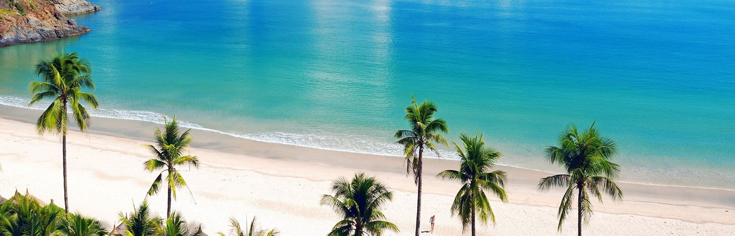 a white beach with palm trees from luxury Caribbean holiday experts, Caribbean Boutique